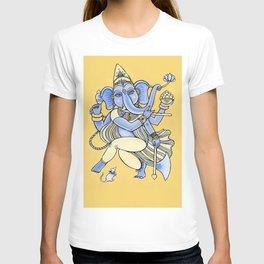 Dancing Ganesha hand drawn illustration. Dancing elephant. Hindu God. Indian God. Travel in India il T-shirt