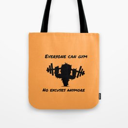 Gym cactus Tote Bag