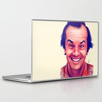 jack nicholson Laptop & iPad Skins featuring Young Jack Nicholson and the evil smile - digital painting by Thubakabra