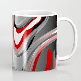 Liquify - Red, Gray, Black, White Coffee Mug