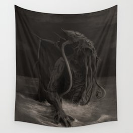 Cthulhu Rises Wall Tapestry