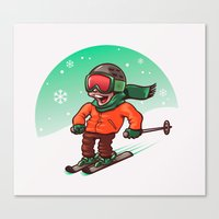 ski Canvas Prints featuring Ski by nicosarmiento