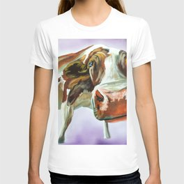 Cow painting, oil on canvas T-shirt