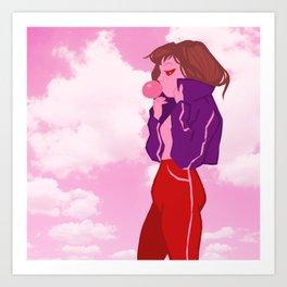 Bubble Gum Pink Art Print