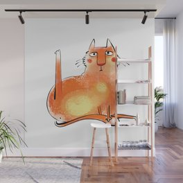 Yoga Cat #2 Wall Mural