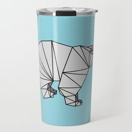 Geometric Polar Bear Travel Mug