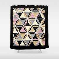 quilt Shower Curtains featuring quilt 2015 by Ariadne