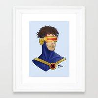 cyclops Framed Art Prints featuring Cyclops by Matthew Bartlett