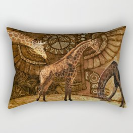 Three Giraffes Rectangular Pillow