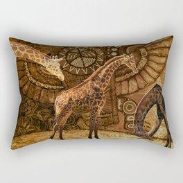 Three Giraffes Rectangular Pillow
