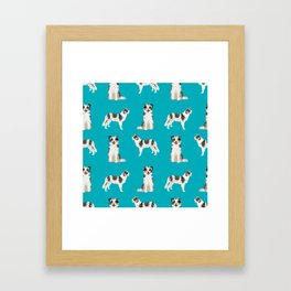 Border Collie dog breed gifts collies herding dogs pet friendly Framed Art Print