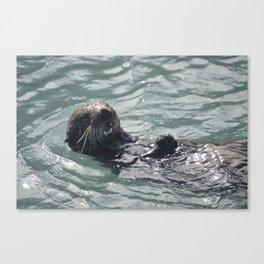 otter joy Canvas Print