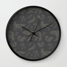 Shafted Woods Wall Clock