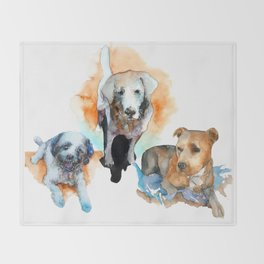 dogs#1 Throw Blanket