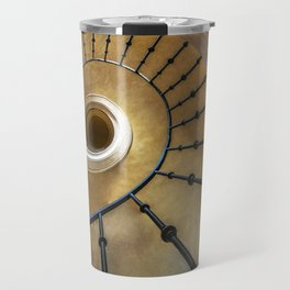 Golden spiral staircase Travel Mug