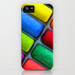 Colorful Sidewalk Chalk iPhone Case