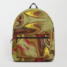 Brown and Green Swirls Backpack