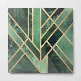 Art Deco Emerald Metal Print