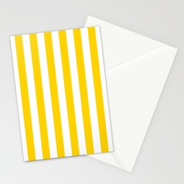 Stripe Texture (Yellow & White) Stationery Cards