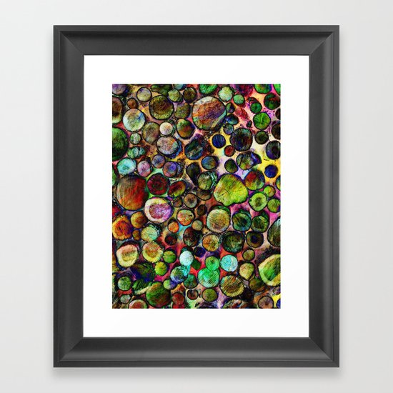 Colored Wood Pile 2 Framed Art Print