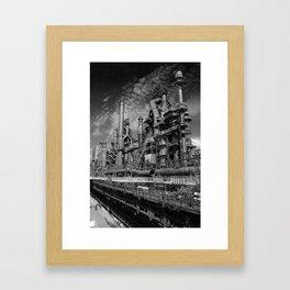 Bethlehem Steel Blast Furnace 9 Framed Art Print