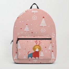 Merry Christmas Dog Card 3 Backpack