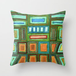 Beautiful Pattern with Silver glowing in the Dark Throw Pillow