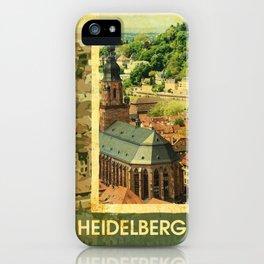 Retro Heidelberg Skyline iPhone Case