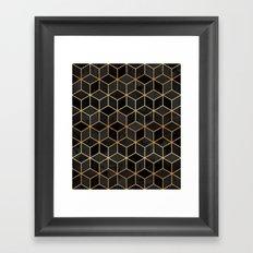Black Cubes Framed Art Print