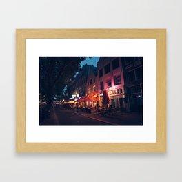 Nightlife in Amsterdam Framed Art Print