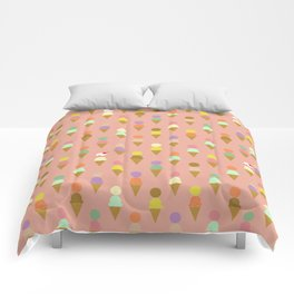 Ice Cream Cone Pattern Pink Robayre Comforters