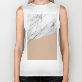 Marble and Hazelnut Color Biker Tank