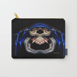 Blue Caped Skull Carry-All Pouch