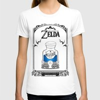majora T-shirts featuring Zelda legend - Blue potion  by Art & Be