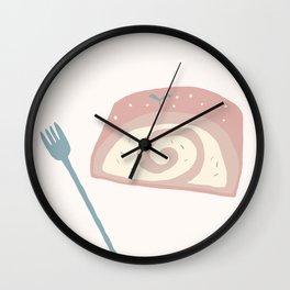 Cake Roll Wall Clock