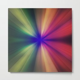 Spectral Flash Metal Print