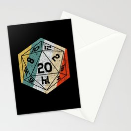Role playing game vintage retro D20 dice Stationery Cards