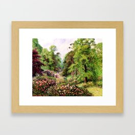 """Camille Pissarro """"Kew Gardens, Alley of Rhododendrons"""" Framed Art Print"""