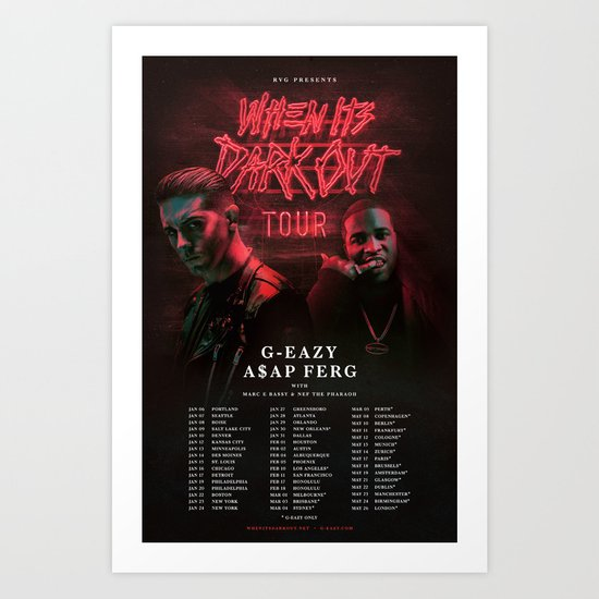 Tour Poster Art Print