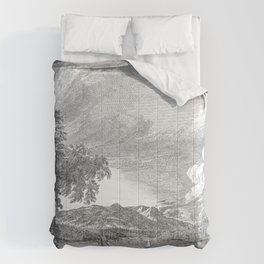 Hudson River and Catskills, Graphite and Crisp White Comforters