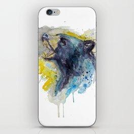 Black Bear Head iPhone Skin