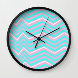 Sparks (pink + green) Wall Clock