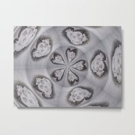 Norma Spins in Silver Metal Print