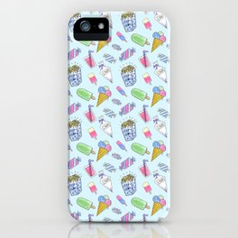 Cute candy and ice-cream pattern iPhone Case