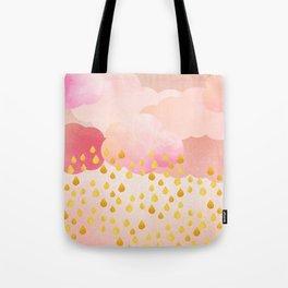 Rose gold rainshowers Tote Bag