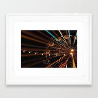 ferris wheel Framed Art Prints featuring Ferris Wheel by Renee Trudell
