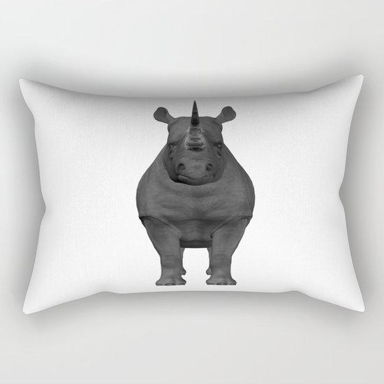 Rhinoceros, Rhino Rectangular Pillow