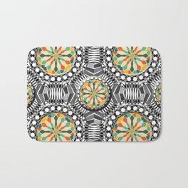 Beveled geometric pattern Bath Mat