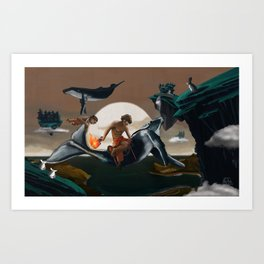Beyond the Horizon  Art Print