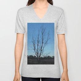 Bare Tree At Dusk Unisex V-Neck